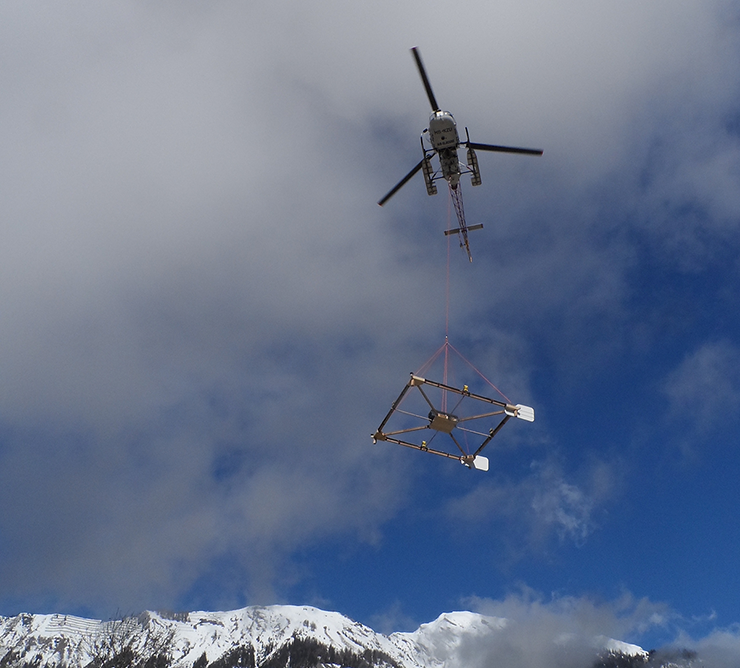 Helicopter-borne radar survey of Swiss glaciers completed